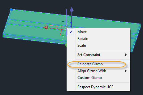 Relocating and Aligning 3D Gizmos