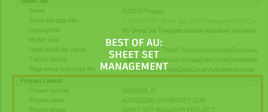 Au  Video Advanced Topics Using The Sheet Set Manager In Autocad Autocad Blog Autodesk