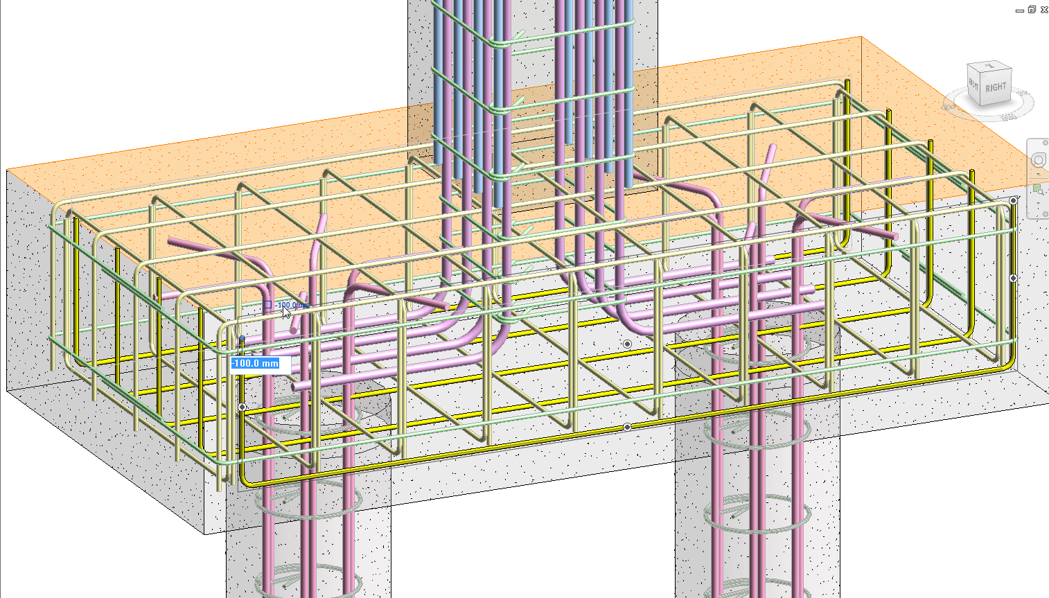 Constant distances in rebar for Revit