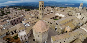 Drone Photo of Volterra province from above, overlooking town square - Autodesk ReCap