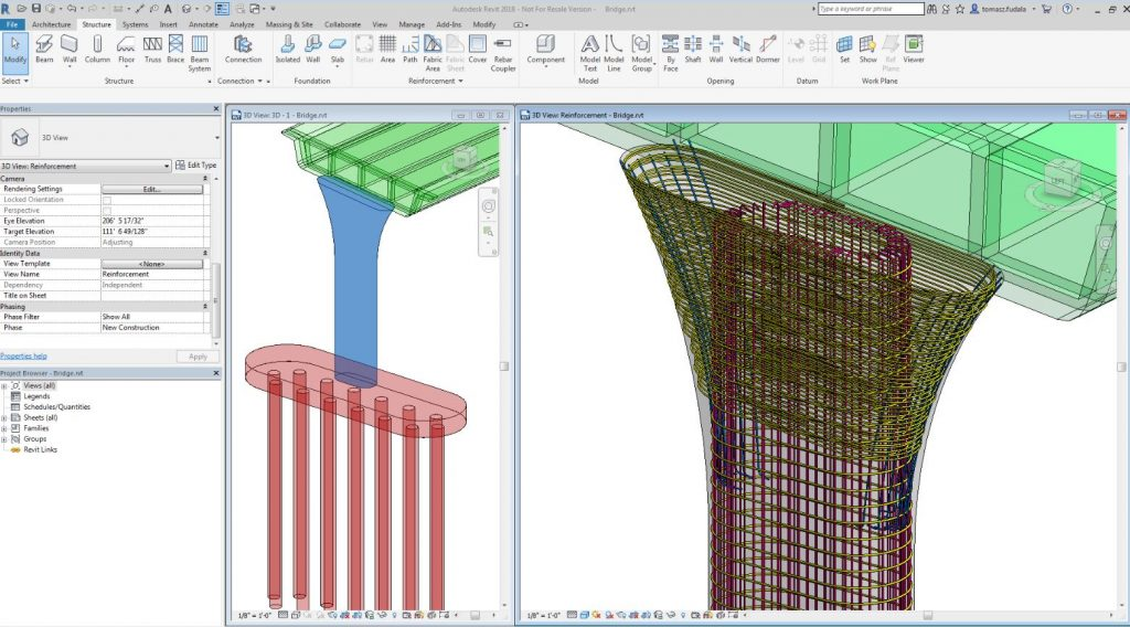 revit for structure rebar
