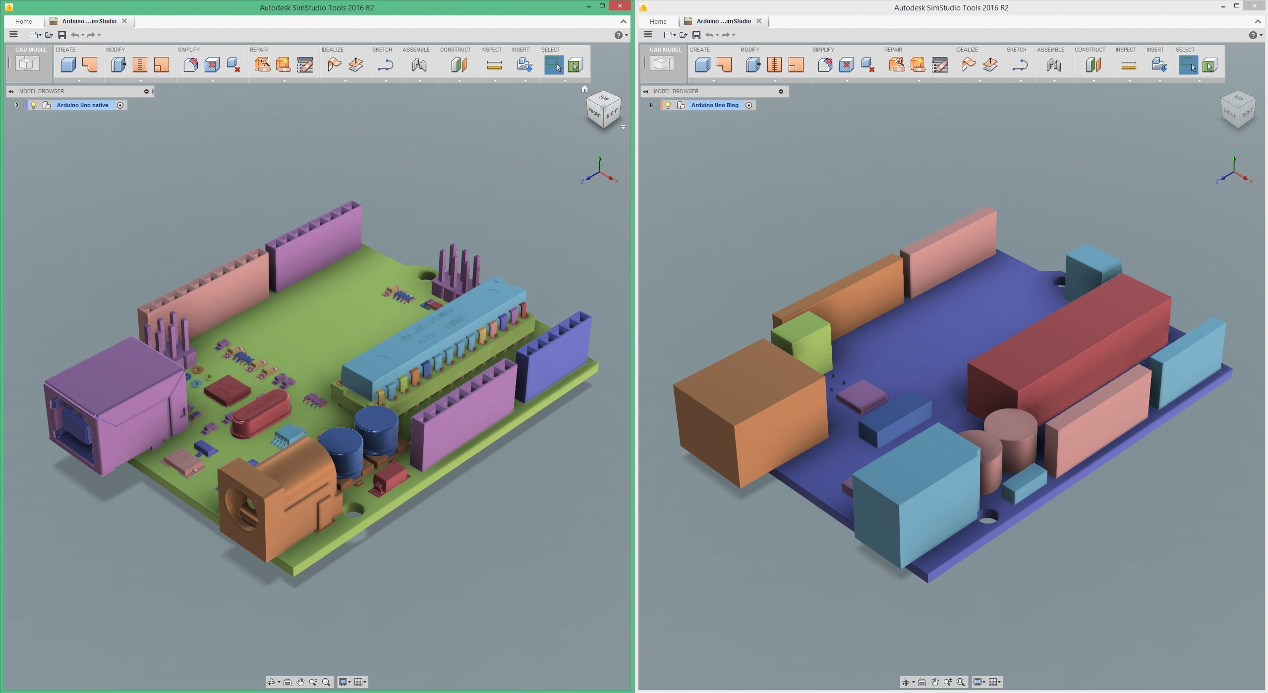 Keeping It Simple With Simstudio Tools Simulation Blog Series Circuit 3d Animated Model Simplifying Cad Geometry For