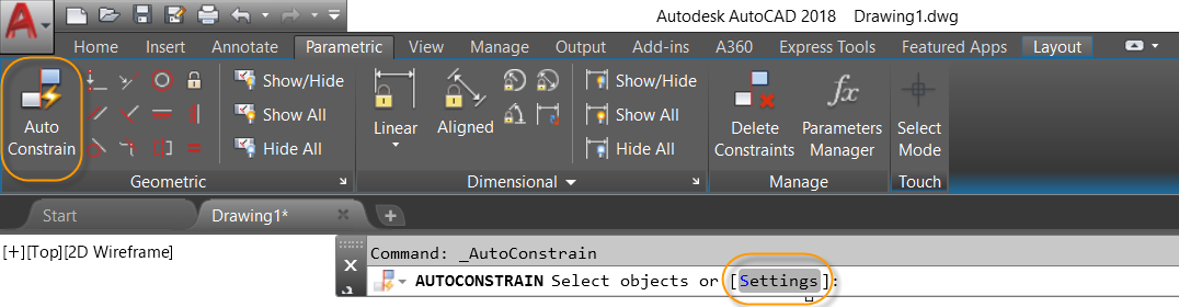 AutoCAD Rectangle With Constraints