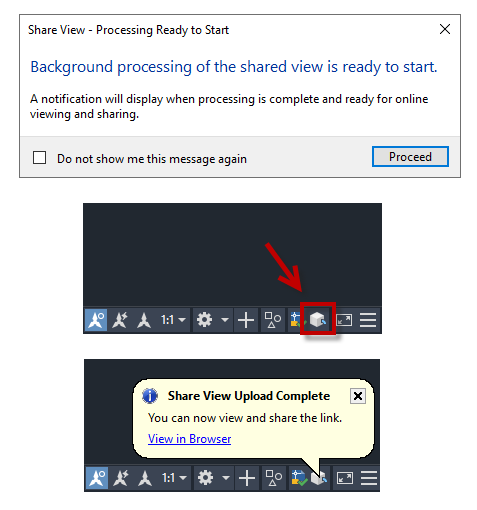 Share view upload AutoCAD