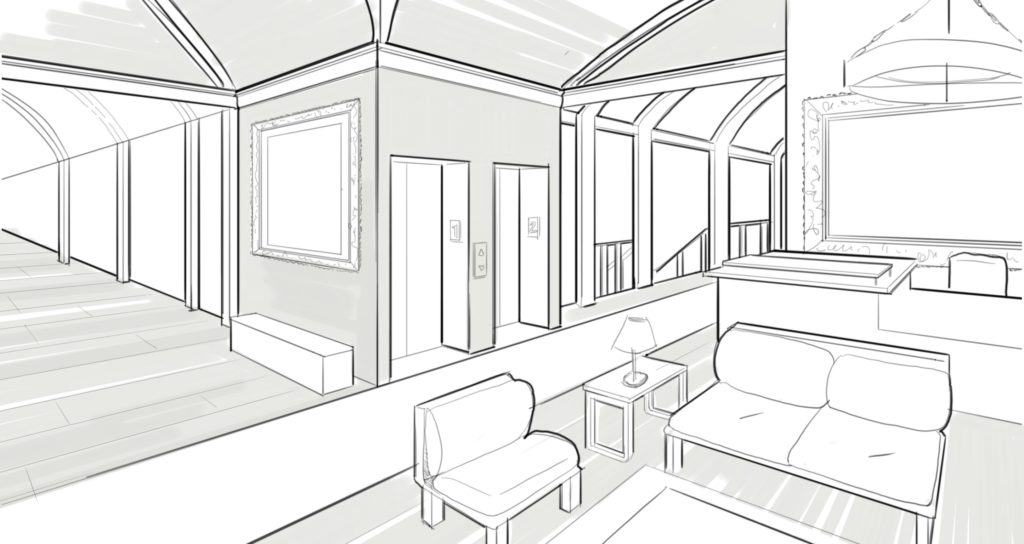 Perspective Guides Using Two Point Perspective For Drawing Interiors Sketchbook Blog